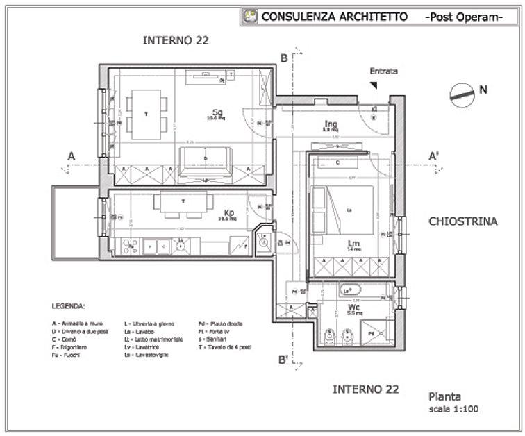 Consulenza architetto progetto appartamento for Progetti di ristrutturazione appartamenti