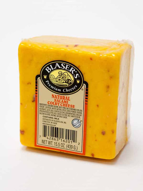 Blaser's Natural Salami Colby Cheese