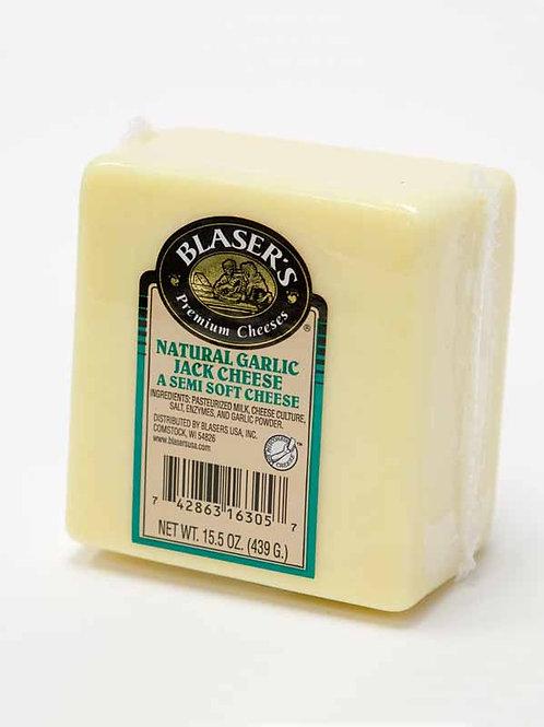 Blaser's Natural Garlic Jack Semi-Soft Cheese