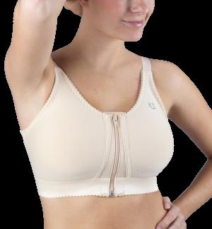 Design Veronique Front-Zippered Cotton Medical/Sports Bra #341Z