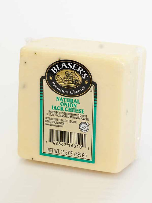 Blaser's Natural Onion Jack Cheese