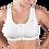 Thumbnail: Design Veronique Contouring Front Zippered Cotton Medical/Sports Bra #457-Z