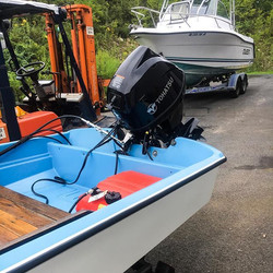 Boston whaler repower with a 30 HP #toha