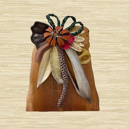 Manila Palm Basket w/Autograph Tree fruit (closed) $85
