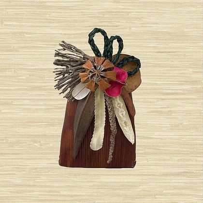 Areca Palm Basket w/Autograph Tree fruit (closed) $30-$45