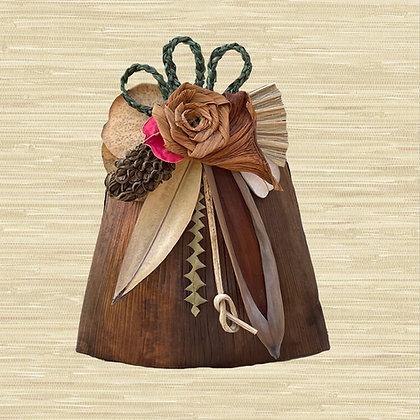 Manila Palm Basket w/Philodendron rose $85