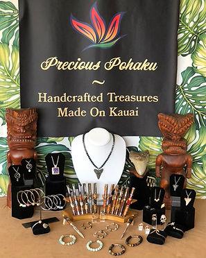 Precious Pohaku jewelry and Pens