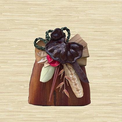 Areca Palm Basket w/Earpod seed pod $30-$45