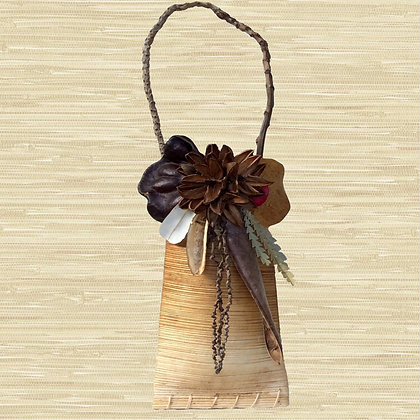 Royal Palm Pouch w/Kahili Flower seed pods $40-$45