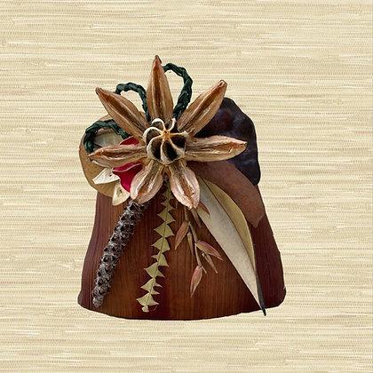 Areca Palm Basket w/Autograph Tree fruit (open) $30-$45