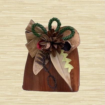 Areca Palm Basket w/Kahili Flower seed pods $30-$45
