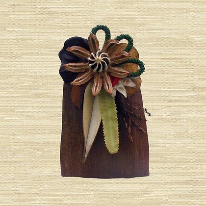 Manila Palm Basket w/Autograph Tree fruit (Open) $85