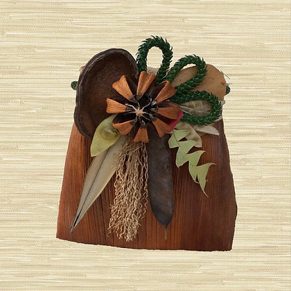 Manila Palm Basket w/Autograph Tree fruit (closed) $85