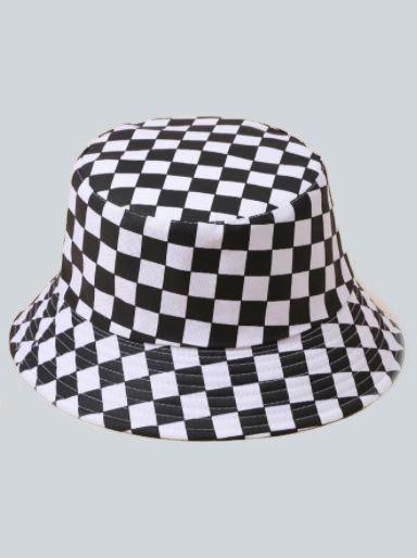 Checker Bucket Hat
