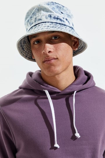 Grey Dye Bucket Hat