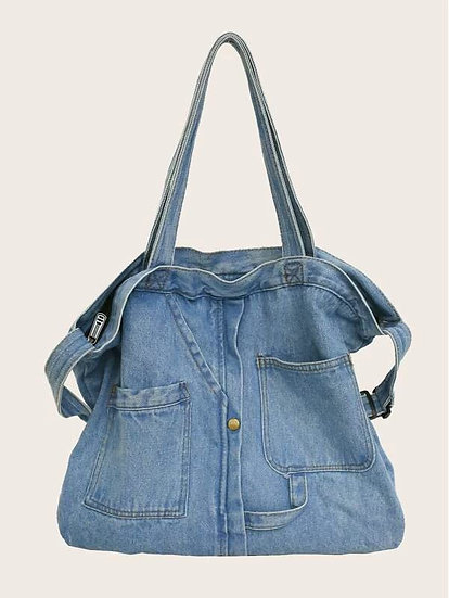 Grande Denim Handbag