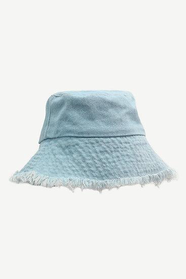Frayed Sapphire Bucket Hat