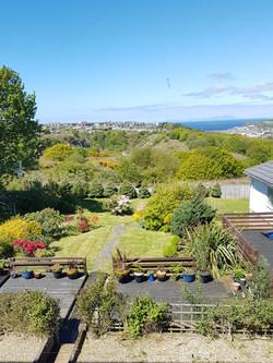 The garden view.