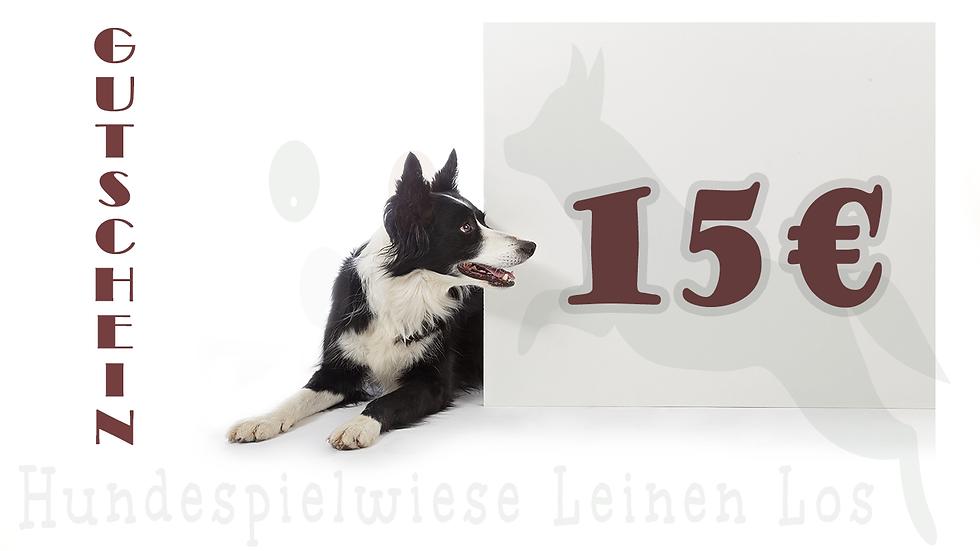 Gutschein Hundespielwiese 15€