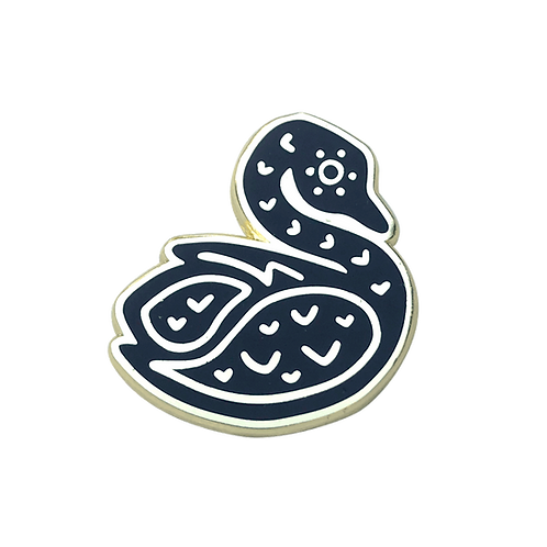 Swan Enamel Pin