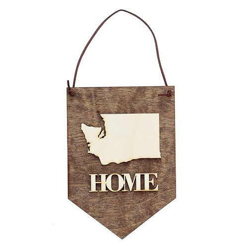 Washington State Home . Wood Banner