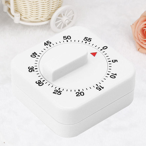 60 Minutes Mechanical Timer with Alarm for Kitchen