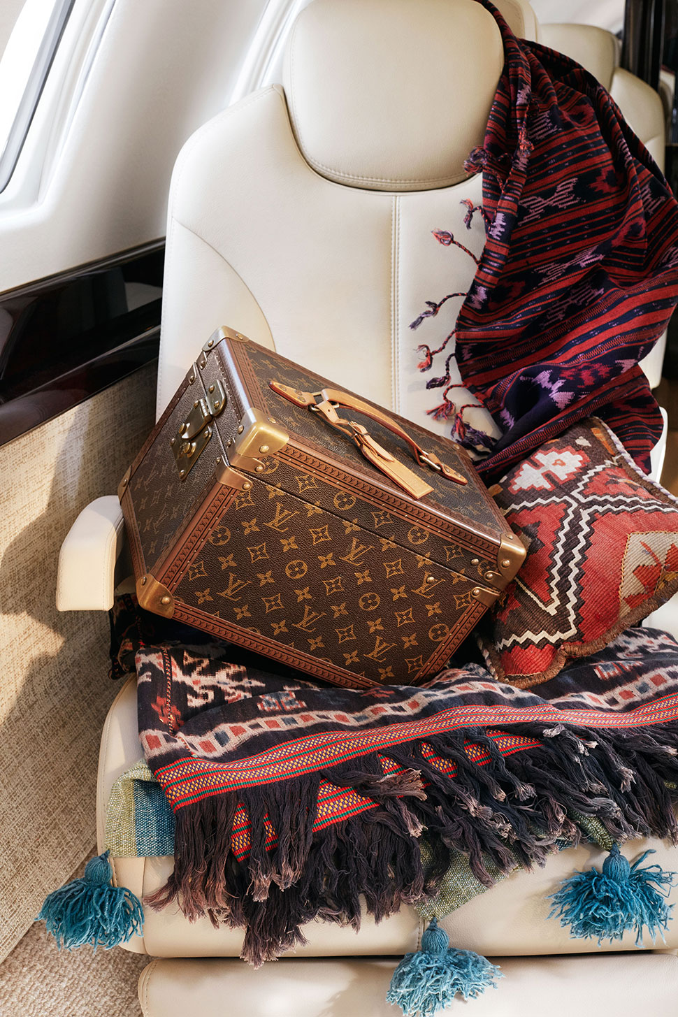 Private Jet Interior Product Placement Photoshoot