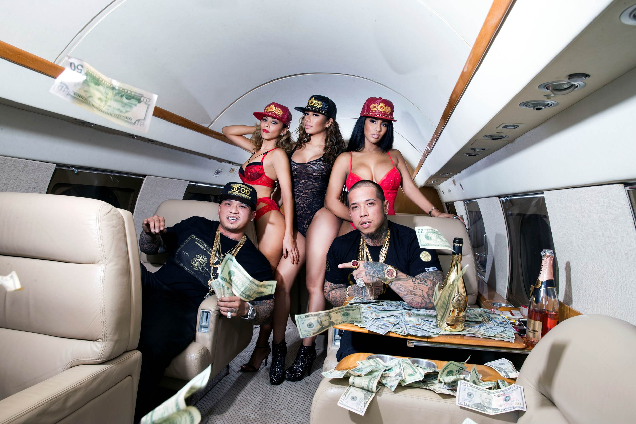 Party on a private jet