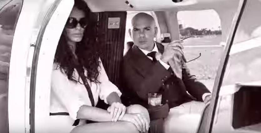Pitbull Helicopter Photoshoot