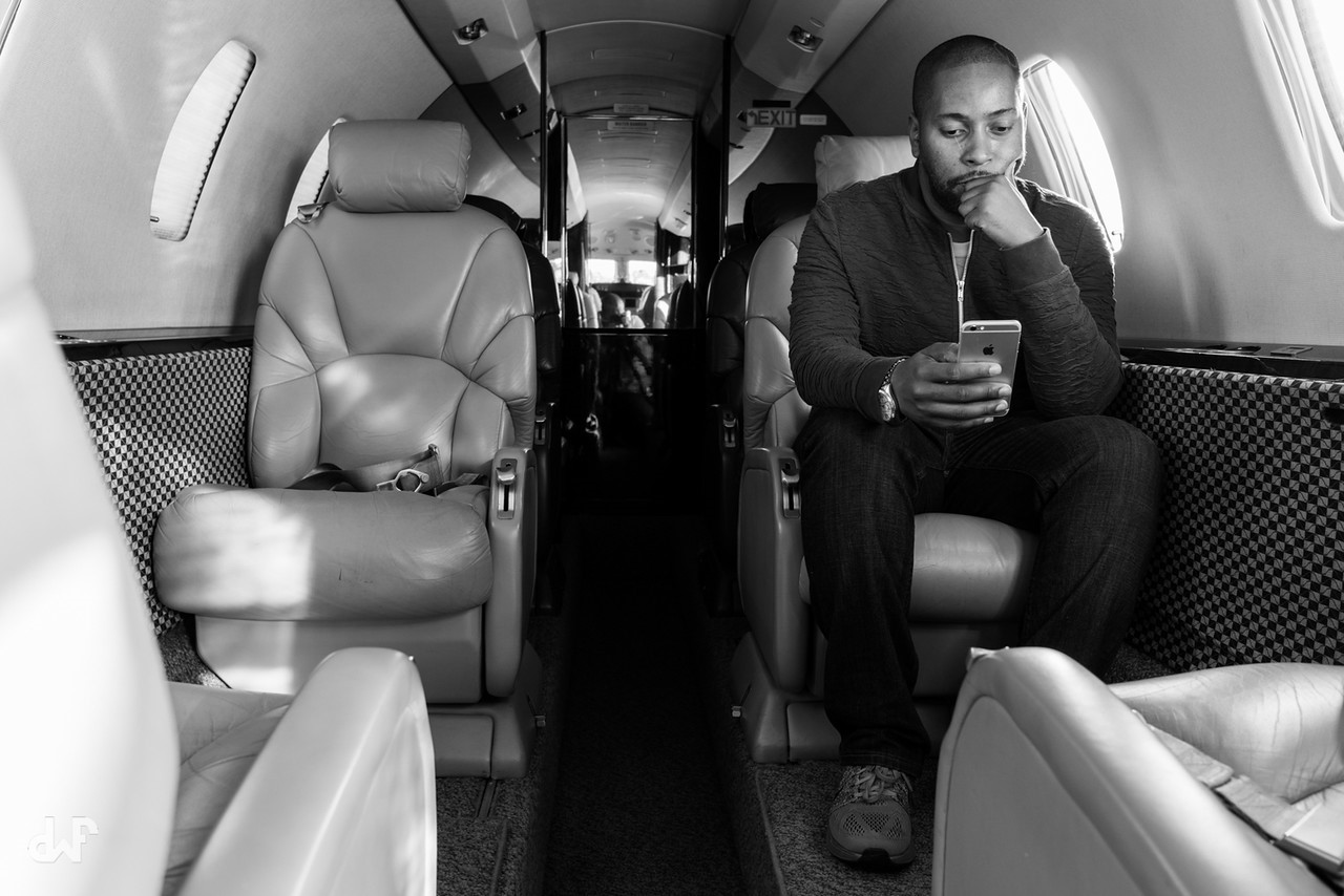 private jet photoshoot citation excel interior