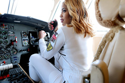 private jet photoshoot in cockpit