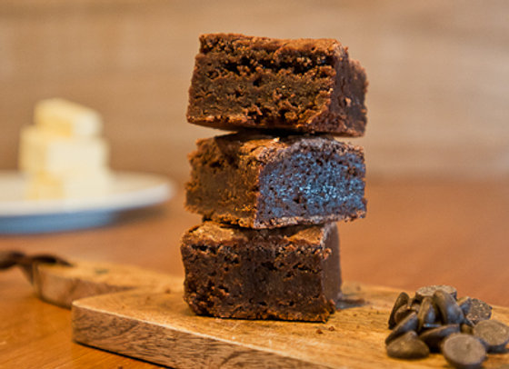 Homemade and Moreish Truly Indulgent Chocolate Brownie