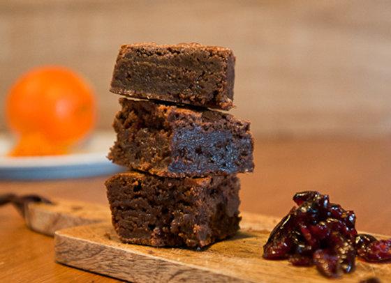 Homemade and Moreish Orange and Cranberry Chocolate Brownie