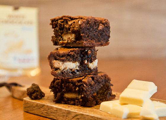 Homemade and Moreish White Chocolate Wow Brownie