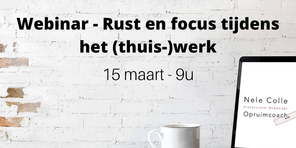 VOLZET Rust en focus tijdens het (thuis-)werk - webinar