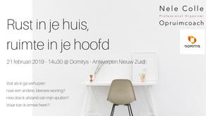 21-2-2019 / 14u30 - Antwerpen - Rust in je huis, ruimte in je hoofd - focus verhuis