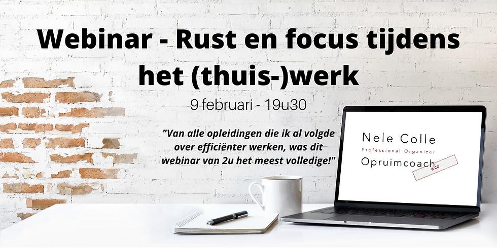 Rust en focus tijdens het (thuis-)werk - webinar