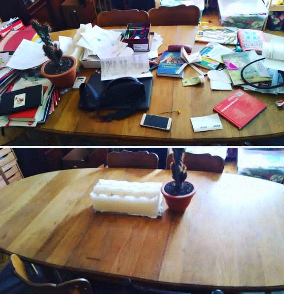 tafel opruimen - clean desk