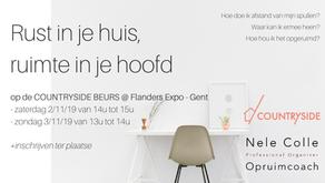 2 en 3 november 2019 @ Countryside-beurs, Flanders Expo - Rust in je huis, ruimte in je hoofd
