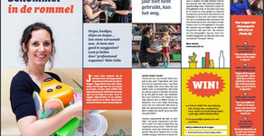 Opruimcoach Nele Colle in Kringmagazine, Het Nieuwsblad en Het Belang van Limburg