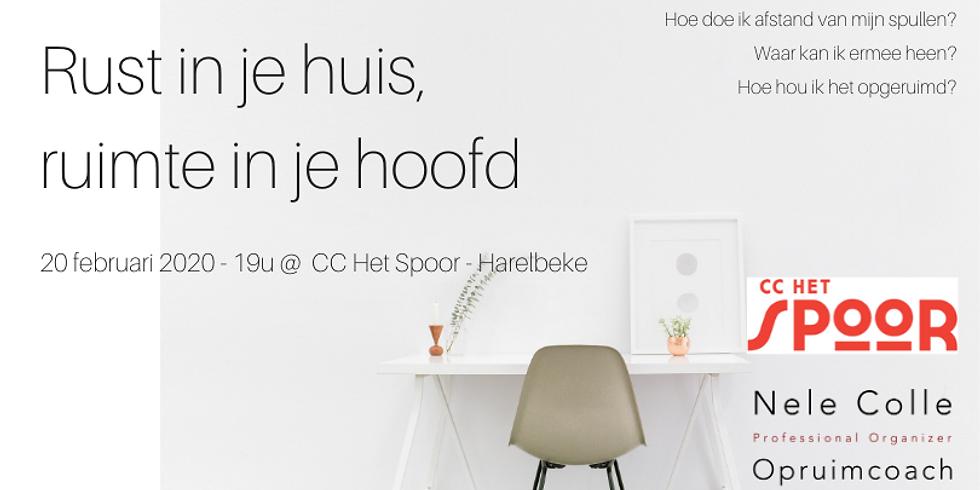 VOLZET - Harelbeke - Rust in je huis, ruimte in je hoofd