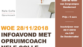 28-11-2018 / 19u30 - Infoavond 'Rust in je huis, ruimte in je hoofd' @ LDC De Dendervallei -