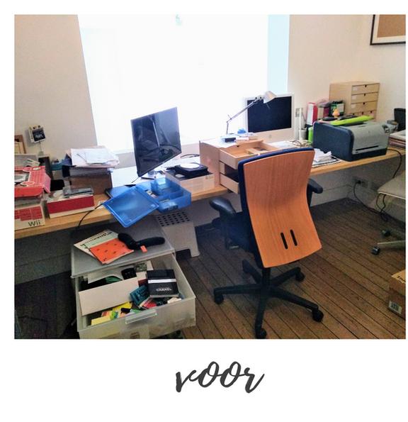 bureau opruimen - voor