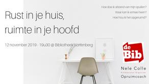 12-11-2019 / 19u30 @ Kortenberg - Rust in je huis, ruimte in je hoofd