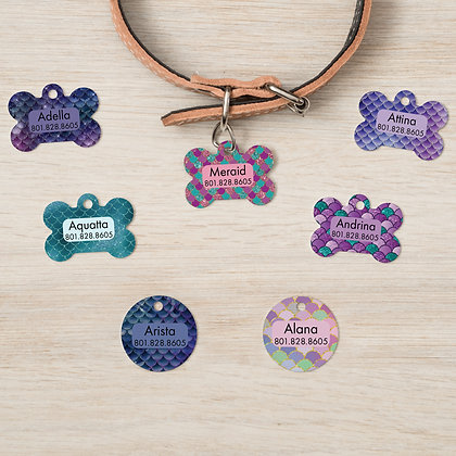 Sparkling Mermaid Pet IDs, Dog Tags, Cat Tags