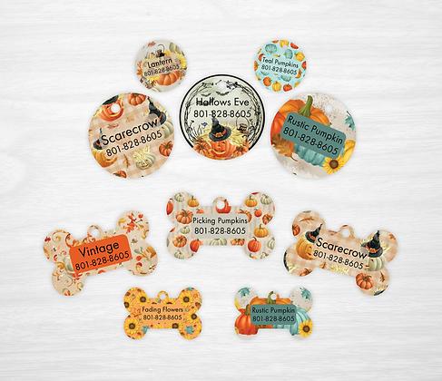 Rustic Pumpkins Pet IDs, Dog Tags, Cat Tags