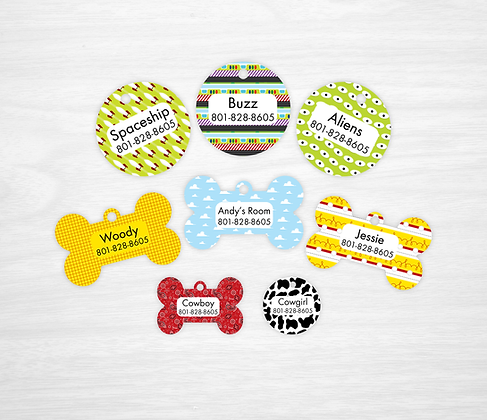 Toy Story Pet IDs, Dog Tags, Cat Tags