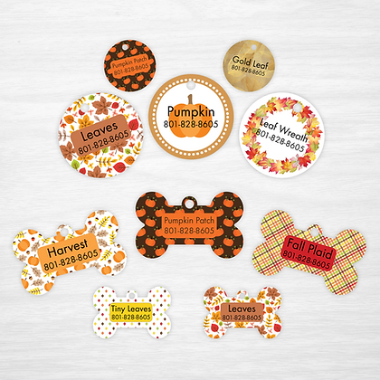 Pumpkin Patch Pet IDs, Dog Tags, Cat Tags
