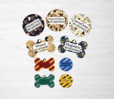 Harry Potter Pet IDs, Dog Tags, Cat Tags