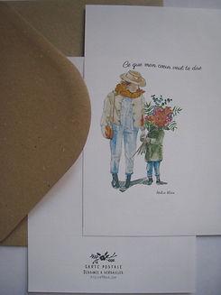 fille fleur ce que mon coeur veut te dir